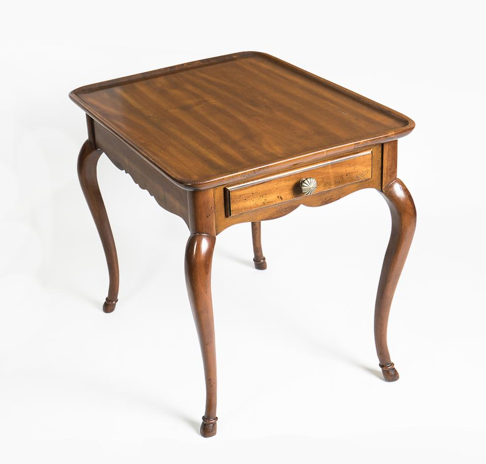 Cool Vintage Hickory Chair End Table Whittington Gallery Evergreenethics Interior Chair Design Evergreenethicsorg