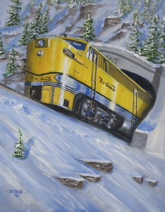 diesel railroad locomotive painting