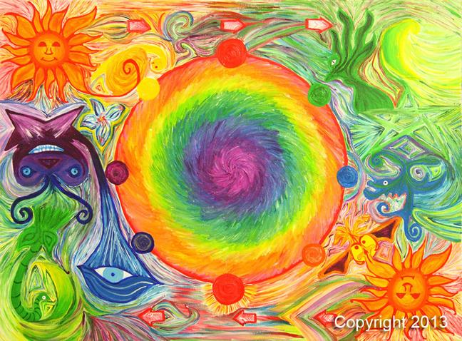 THE SLEEPWHEEL, inspired by natural cycles, abstract wall art, art decor, interior design, Unus Mundus Art by St. Louis Artist Jasmine Raskas