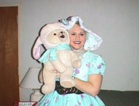 BoPeep Party character Puppeteer with Snuggle Bear puppet
