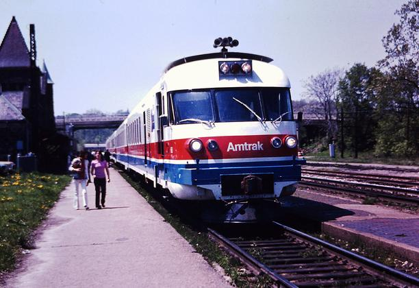 A Turboliner at Ann Arbor in 1975.