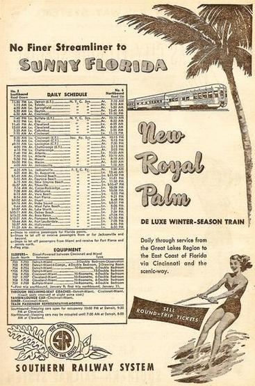 A Royal Palm ad and schedule.