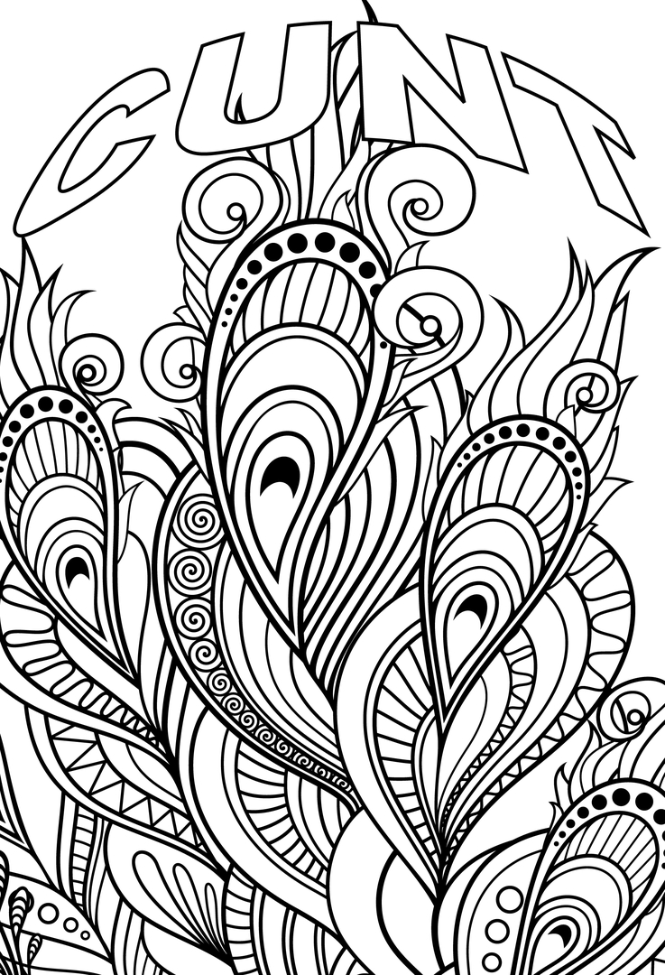 Bad word coloring pages - Author S Page