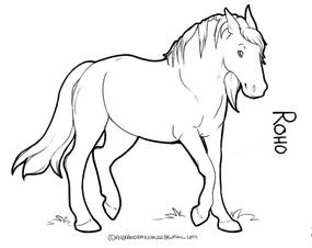 Horse to color