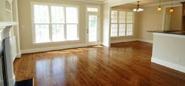 Vacant home cleaning for property managers. Picture of a clean, empty house
