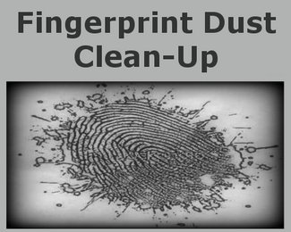 Fingerprint powder cleanup services