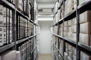 Row of archived files