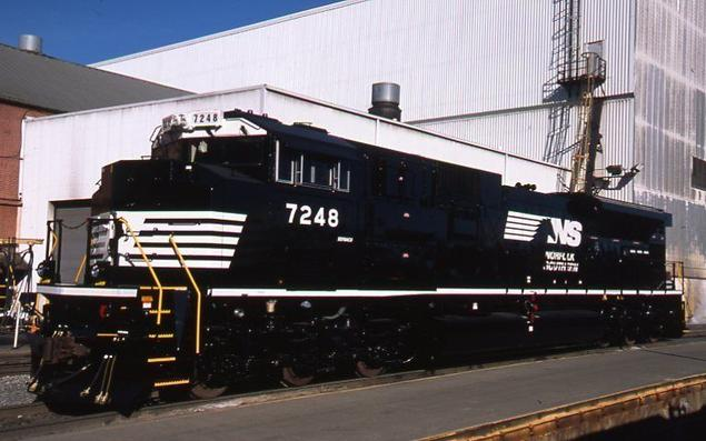 Norfolk Southern EMD SD70ACU No. 7248.