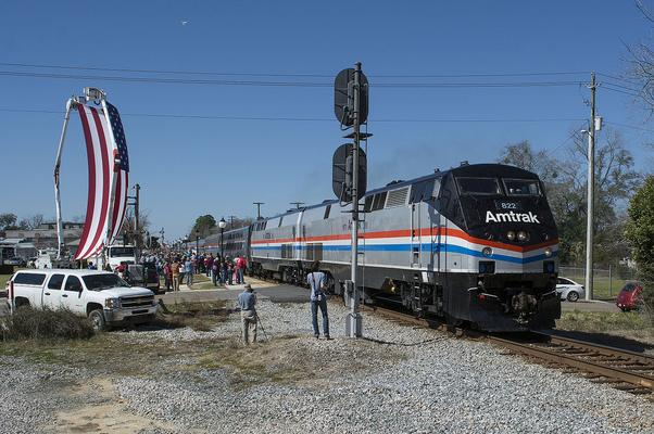 The Amtrak Return to Service Special arrived to fanfare and an overwhelming crowd of supporters in Chipley, Florida.