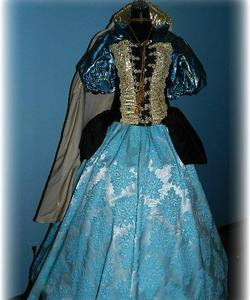beb098368cc06 Authentic Victorian Lady/ Clara Barton/ Baby Doe Tabor. Titanic Era Molly  Brown Costume In Navy Blue & Pearls with Hat
