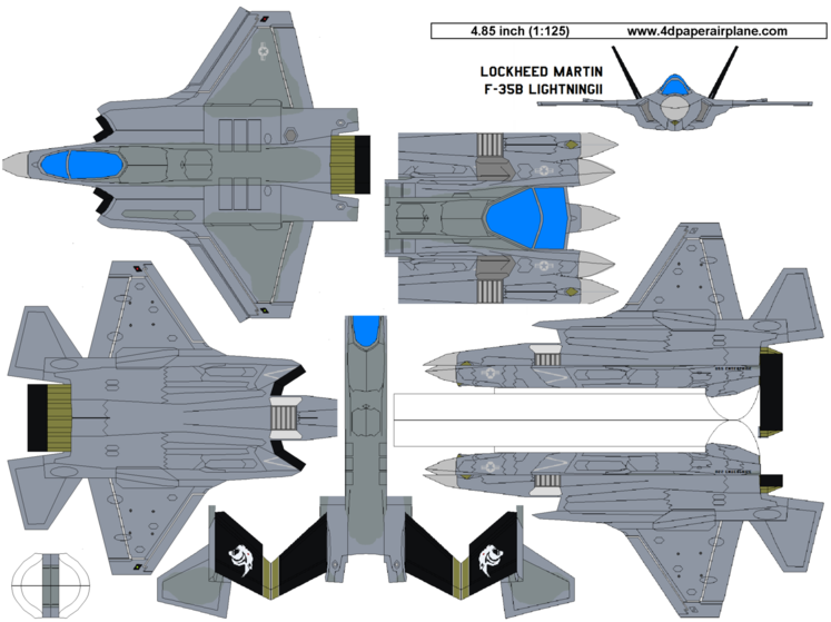4D model template of Lockheed Martin F-35B Lightning II