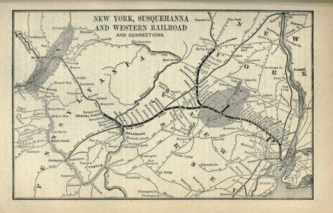 New York, Susquehanna and Western Railway map.