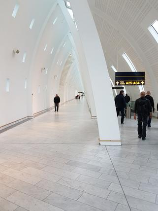 Copenhagen Airport arrivals gate area