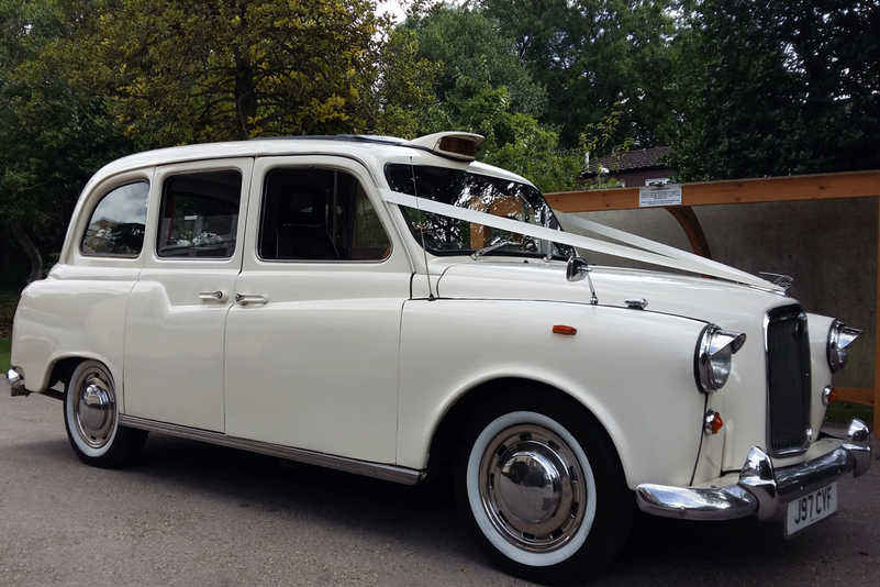 Classic London Taxi Wedding Car Essex hire from Essex Wedding Cars