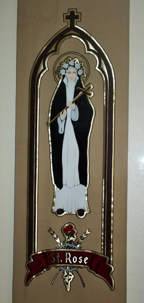 St. Rose of Lima Tapestry by Frank Casha