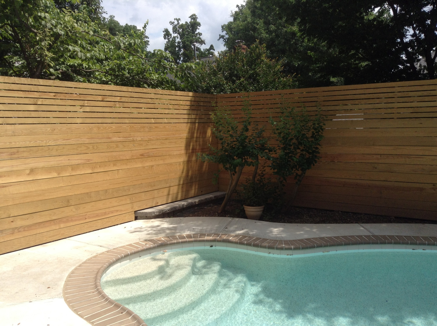 Pool Privacy Fence privacy fences - lions fence