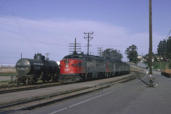 SP PA No. 6023 at Martinez with train No. 101, The City of San Francisco, March 1965. Photo by Drew Jacksich.