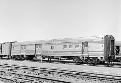 Texas and New Orleans (Southern Pacific) Railway Post Office - Baggage Car No. 223 at El Paso, Texas, April 1961.