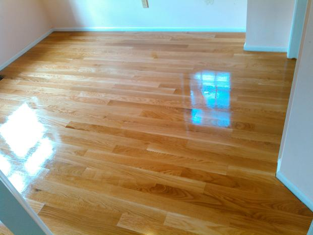 wide plank, solid white oak hardwood flooring