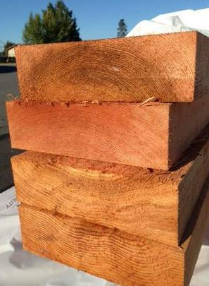 Freshly Cut. Old Growth Western Red Cedar Lumber
