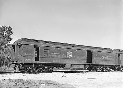 Missouri-Kansas-Texas, Railway Post Office and Baggage Car No. 217, October 3, 1961 at San Antonio, Texas.