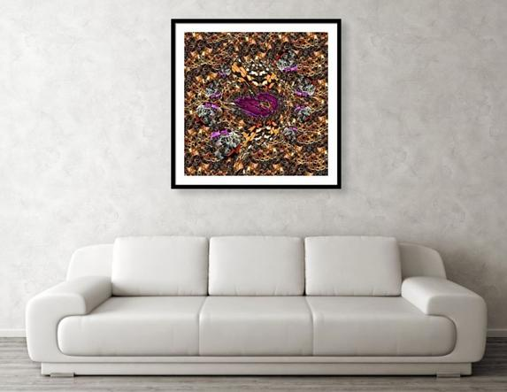 Galaxy Framed Print 30 x 30