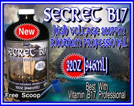 Secret Vitamin B17 HV Rhodium Pro