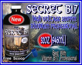 Secret Vitamin B17 HV Rhodium Pro