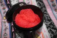 raspberries & cream body scrub