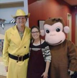 Curious George Party Character.Hire The Man In the Yellow Hat