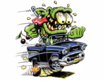 Mad Muscle Garage Logo 57 Chevy Rat Fink
