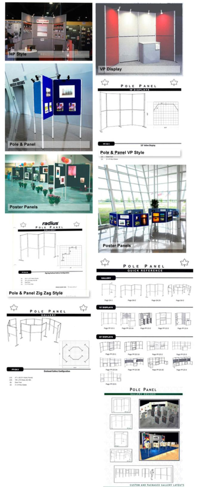 pole and panel display system hahn rentals
