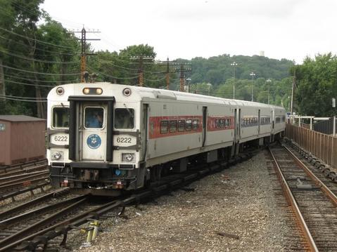 A Metro-North train, headed by Bombardier Shoreliner VI car No. 6222.