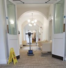 Commercial carpet and upholstery cleaning.