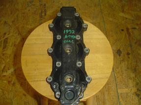 434179, 435981 Used cyinder head for a 1992 60 hp Johnson or Evinrude outboard motor. OEM #434179, 435981