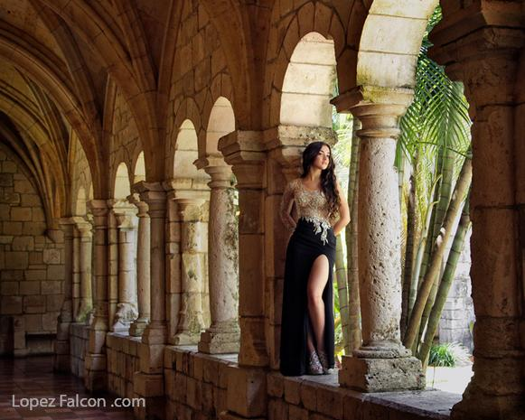 Spanish Monastery Quinceanera Photo shoot Miami Photographer quince quinces
