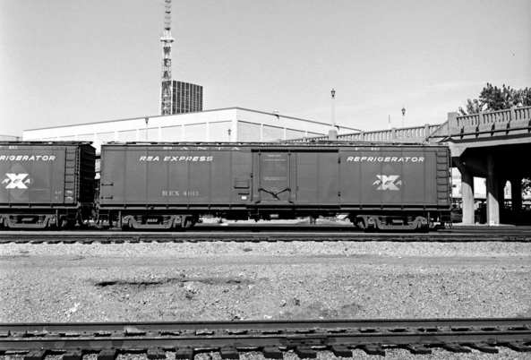 Atchison, Topeka, & Santa Fe, Railway Express Refrigerator Car 4013, October 1, 1966, Dallas, Texas.