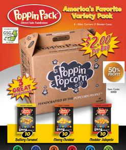 poppin popcorn direct sale carry box fundraiser