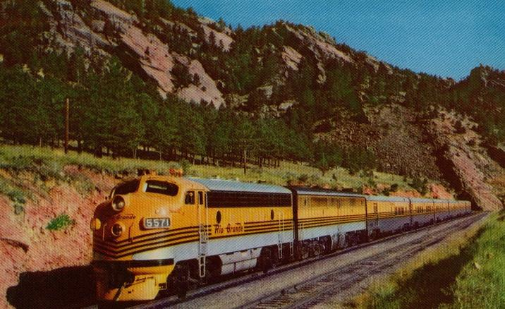 America's Friendliest Train is the streamlined PROSPECTOR.