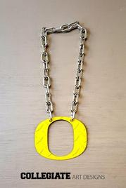 Oregon_Ducks_Diamond_Plate_Necklace_Yellow_Large_Chain_O_Chrome