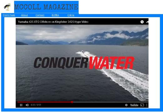 KingFisher Video Shows Big Water Performance