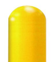 Bright Yellow Dome Top Bollard Cover
