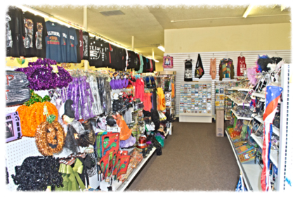 Balloons, T-Shirts, Party Items, Household items, Smoke Shop, And More.