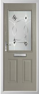 2 panel 1 square composite door in grey