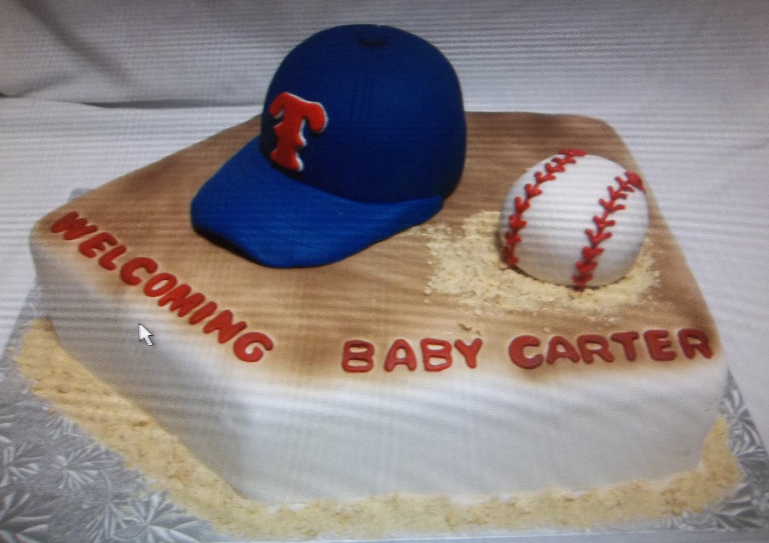 Custom Made Cakes And Cookies In West Sports Cakes 1 Baseball