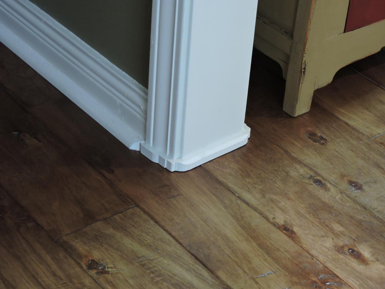 Great fix for gaps under door casings