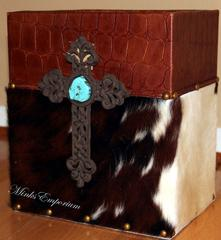 Cowhide Gifts Executive Leather Trash Bin