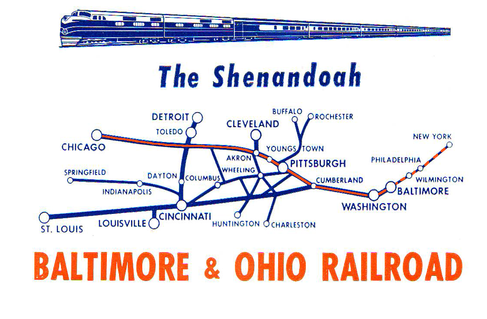 Route map of the Shenandoah.
