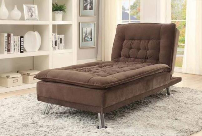 Coaster Lyell Convertible Chaise Sofa Bed