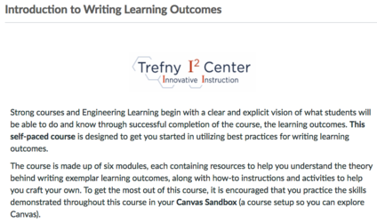 Open Learning Outcomes Course